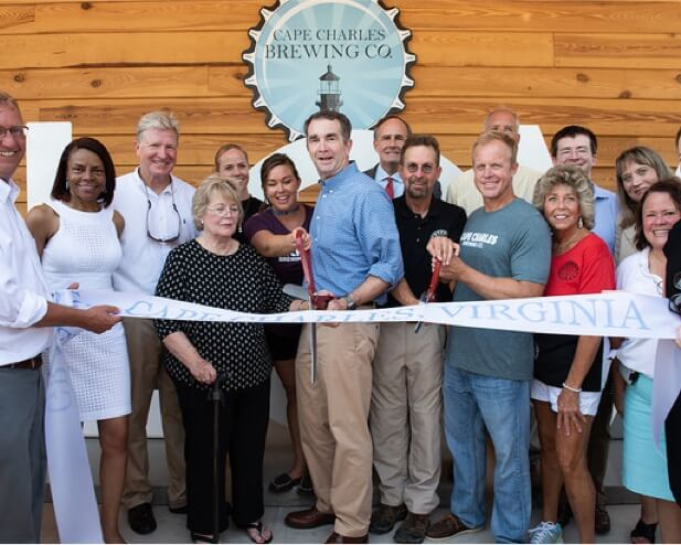 Cape Charles Brewing and Co. cutting ceremony